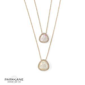 Park Lane Zen Crystal stone necklace